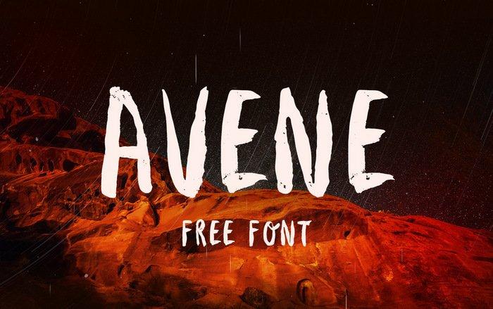 avene-free-brush-font