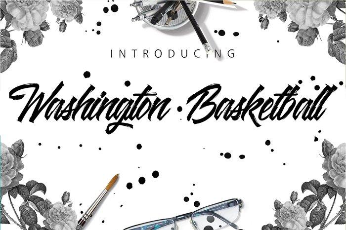washington-basketball-font